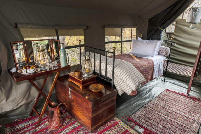 Uncharted Expeditions luxurious guest tent interior