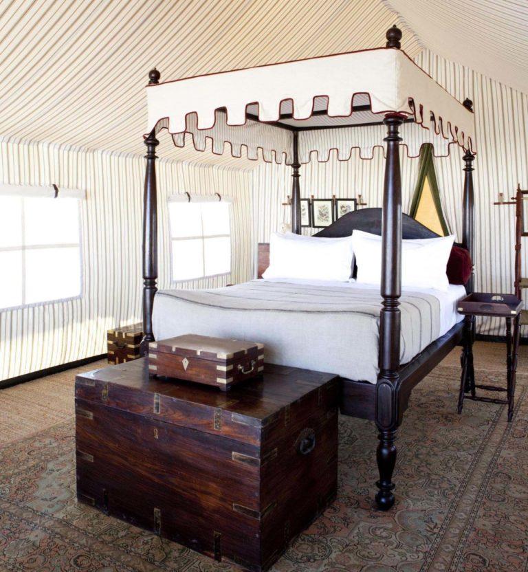San Camp guest tent interior