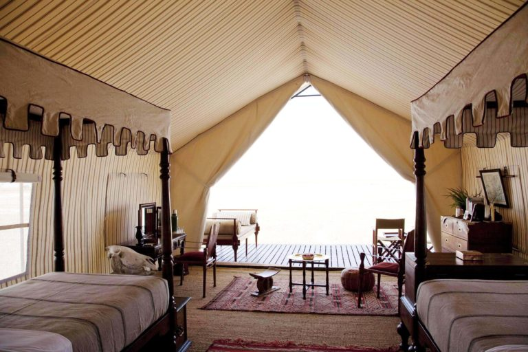 Guest twin tent at San Camp
