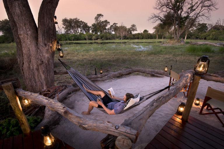 Tranquil hammock hours at Khwai Leadwood Camp