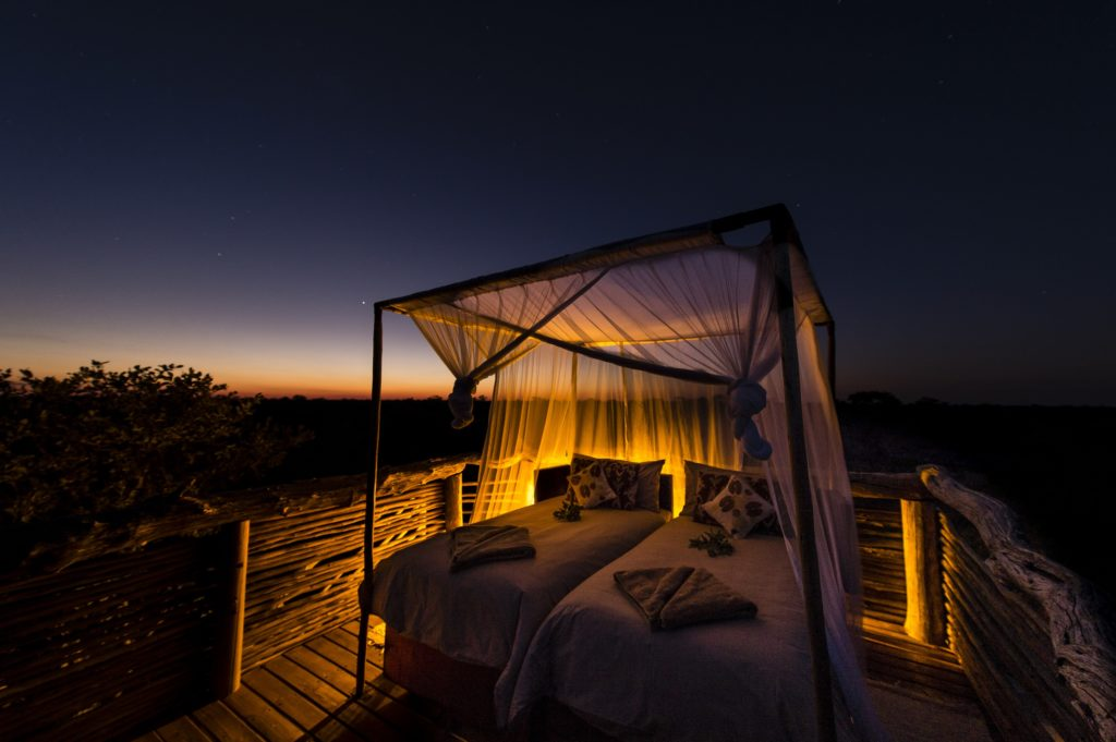 Khwai skybeds are one of the best sleep-outs and star beds in Botswana