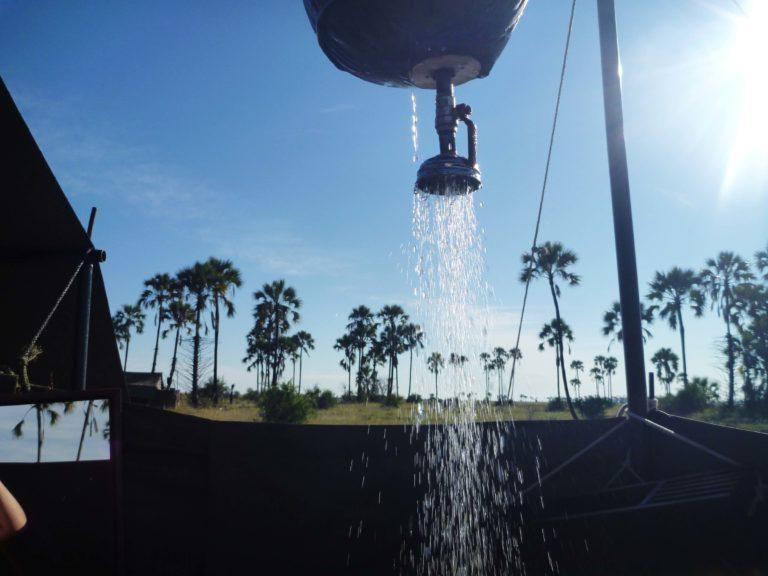 Okavango Mobile Expeditions bathroom bucket shower