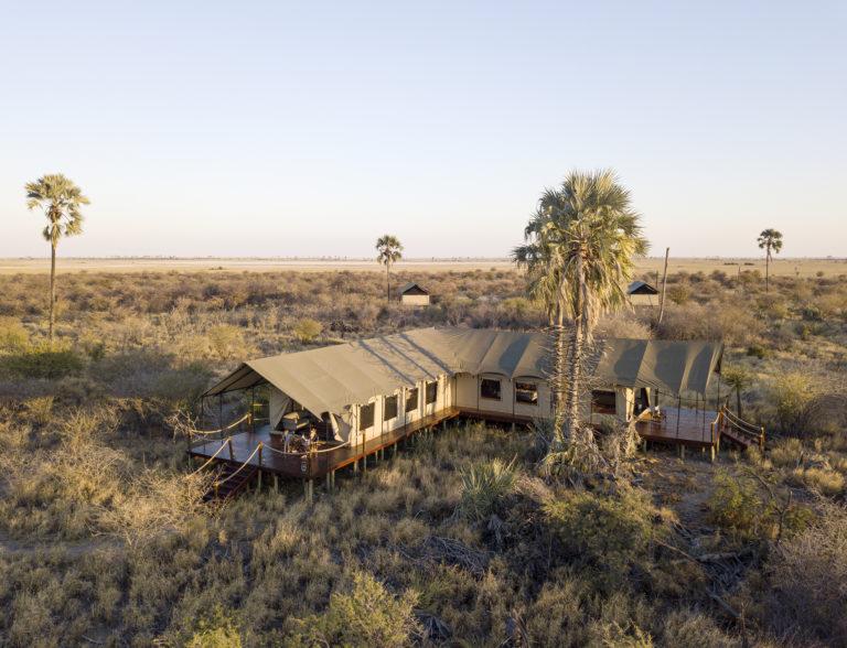 Aerial view of Camp Kalahari