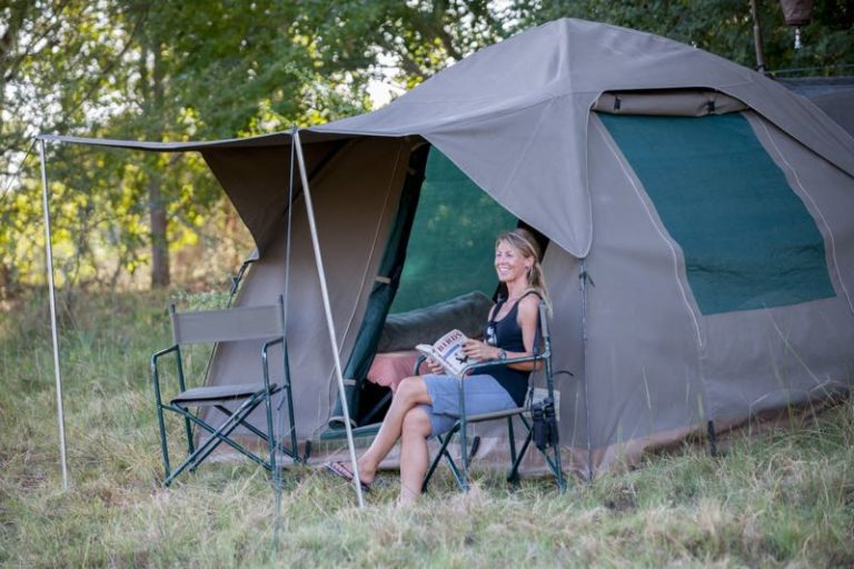 Full participation Safaris offer more spacious tents and ensuite bathrooms