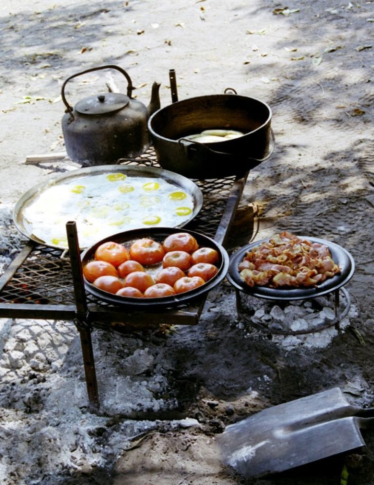 Bush breakfasts are hearty and delicious with Bush Ways Safaris
