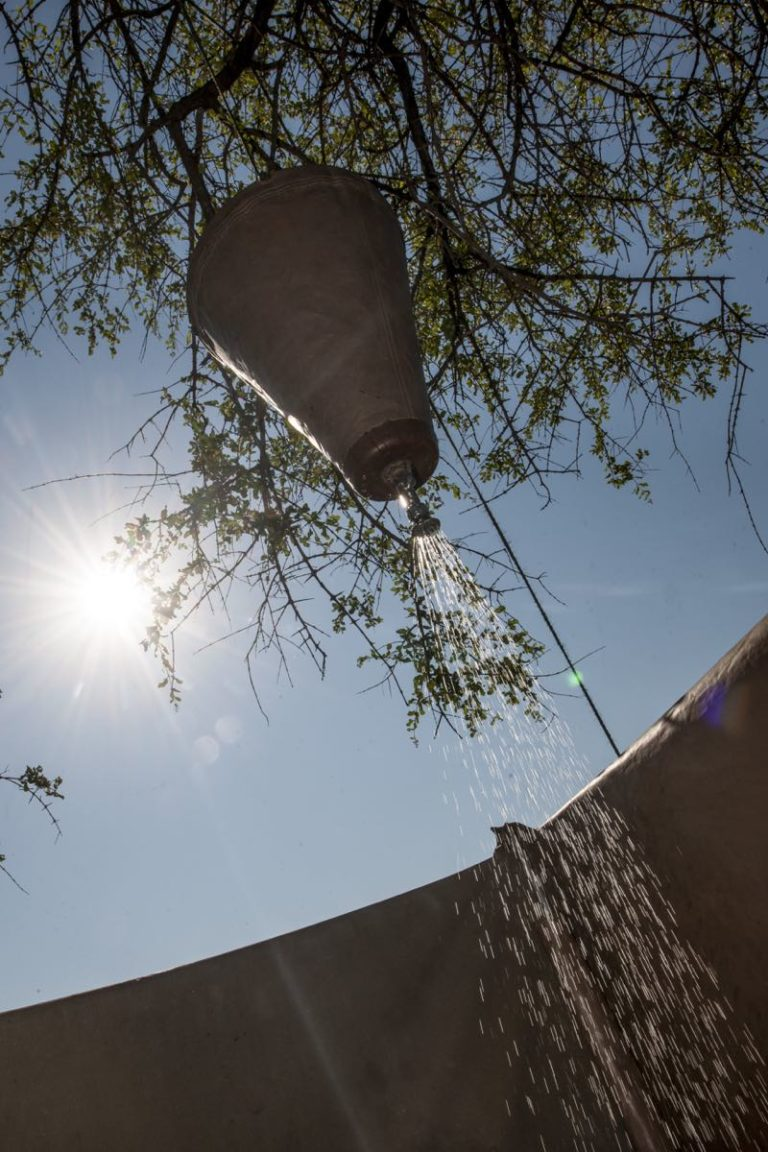 Bucket showers on a Bush Ways Safari are a real treat