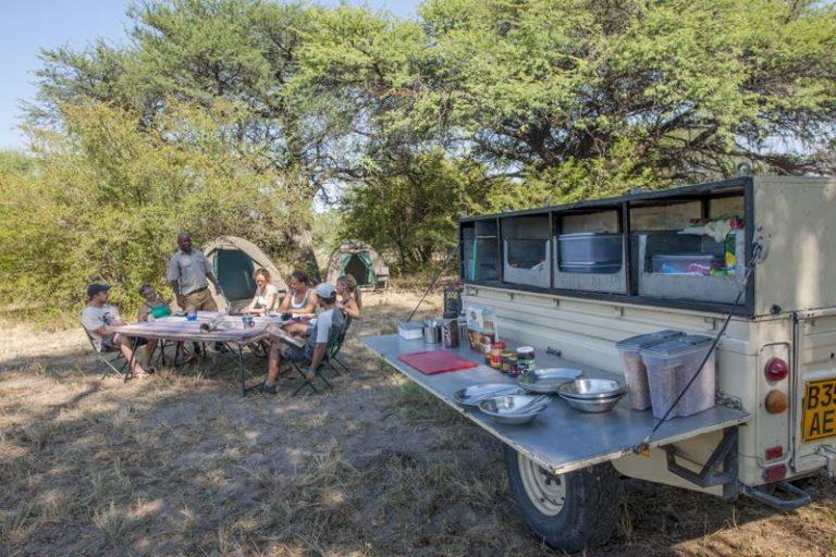 Meals are taken communally on safari with Bush Ways Safaris