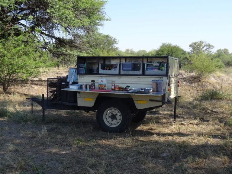 Bush Ways' mobile kitchen is convenient and perfect for camp cooking requirements