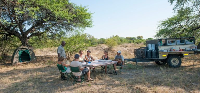 Lunch is served between game drives on a Bush Ways safari