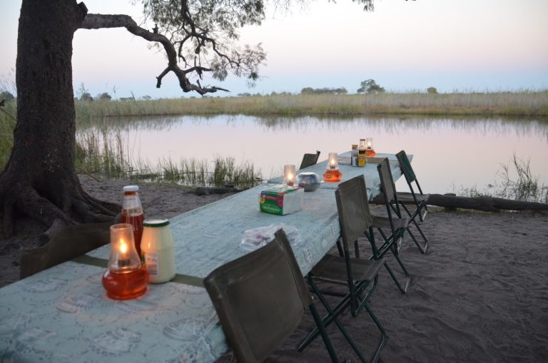 Dinner overlooking the river at Bush Ways Camp
