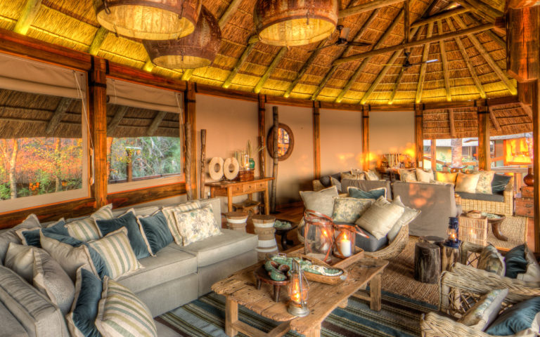 Camp Okavango has two lounge areas with comfortable seating