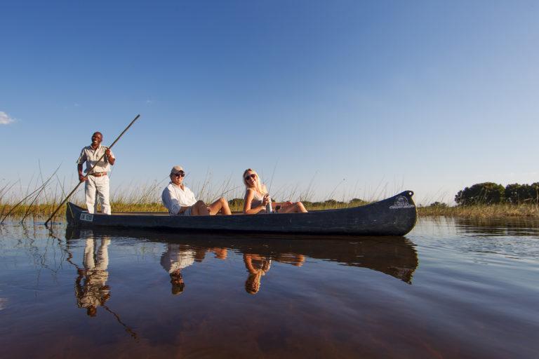 Peaceful mokoro excursion from Camp Okavango
