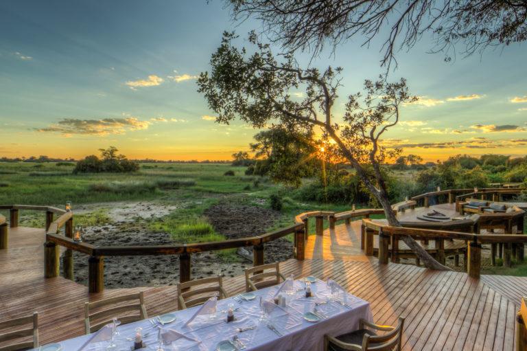 Astounding Delta view from main deck at Camp Okavango