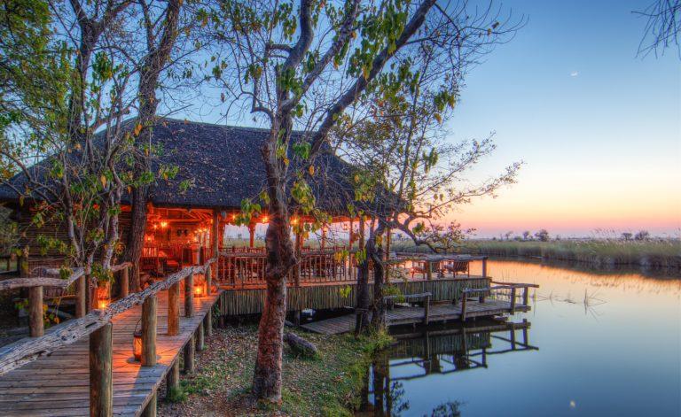 The beautiful Camp Xakanaxa set on the river Khwai