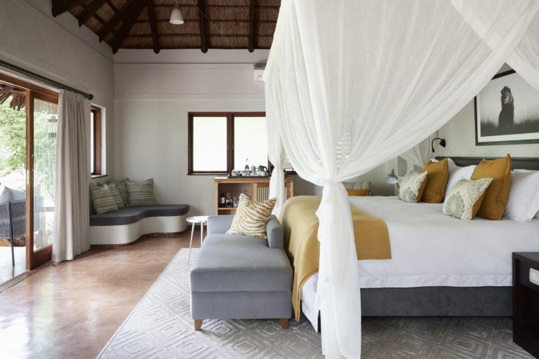 Chobe Chilwero luxury guest room layout
