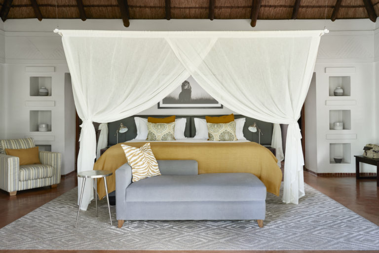 The large luxury suites at Chobe Chilwero feature air conditioning