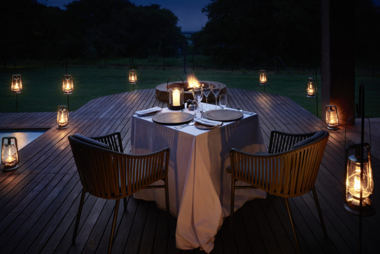 Evening private dinner for two at Chobe Chilwero