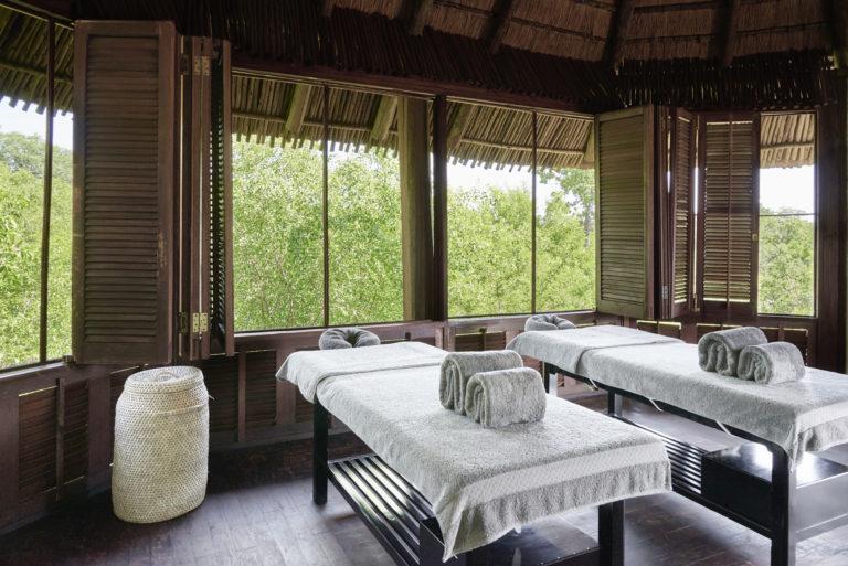 Chobe Chilwero Lodge boasts a treetop spa treatment room