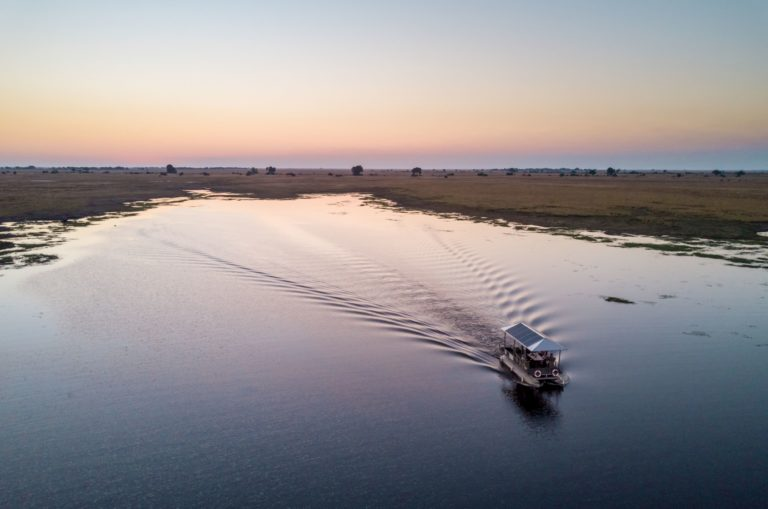 Boating excursion on the Chobe River from Chobe game lodge