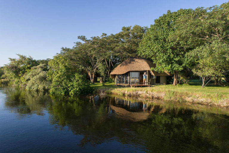 View of Chobe Savanna from the water