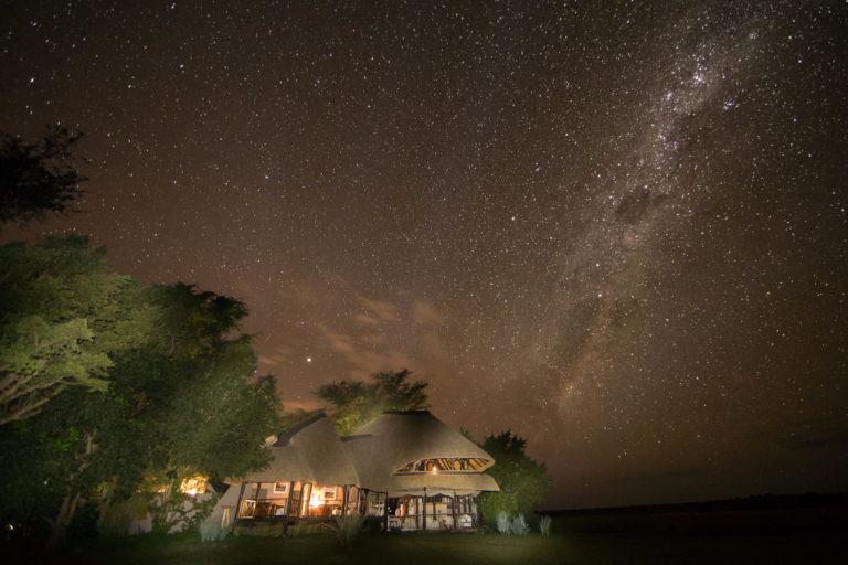 Starlit night skies fall over Chobe Savanna