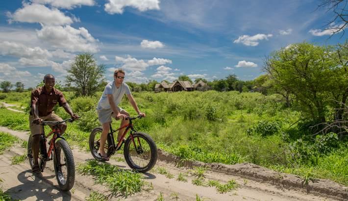 Guided Mountain biking around Feline Fields Lodge is encouraged