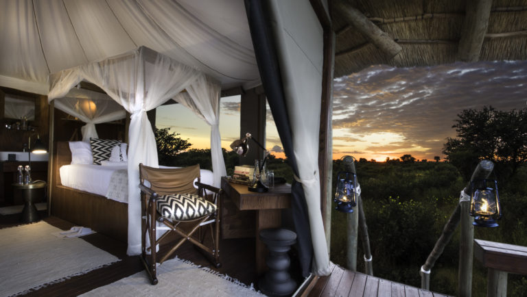 Feline Fields luxury tented suite with extensive view