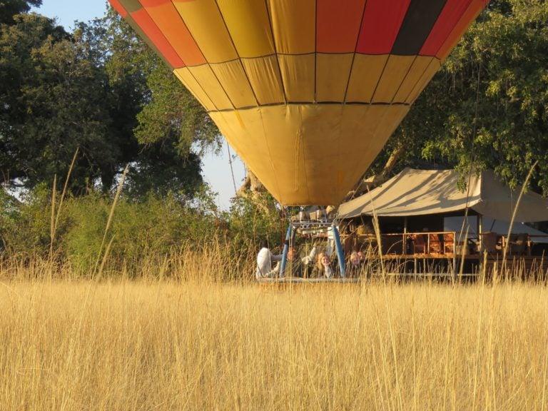 Hot air ballooning is available at Kadizora Camp