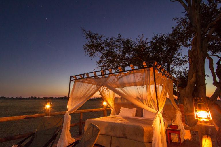Romantic sleep out deck under the stars courtesy of Kanana Camp