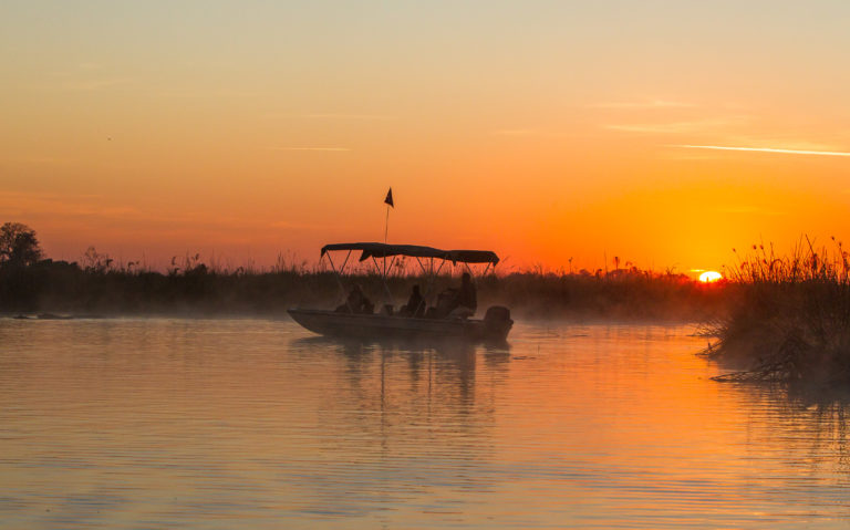 Kanana Camp boating excursion is the perfect time for sundowners