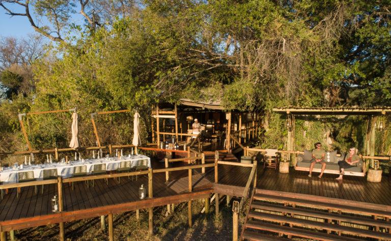 Main viewing deck area at Kanana Camp