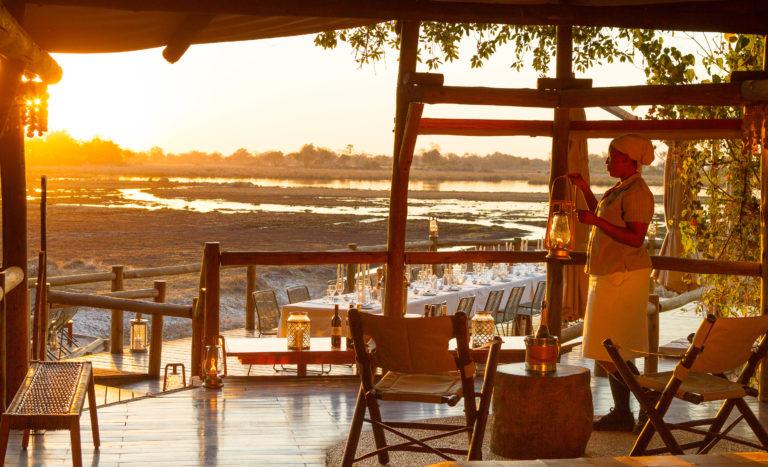 Dreamy view of the Okavango Delta from lounge area at Kanana