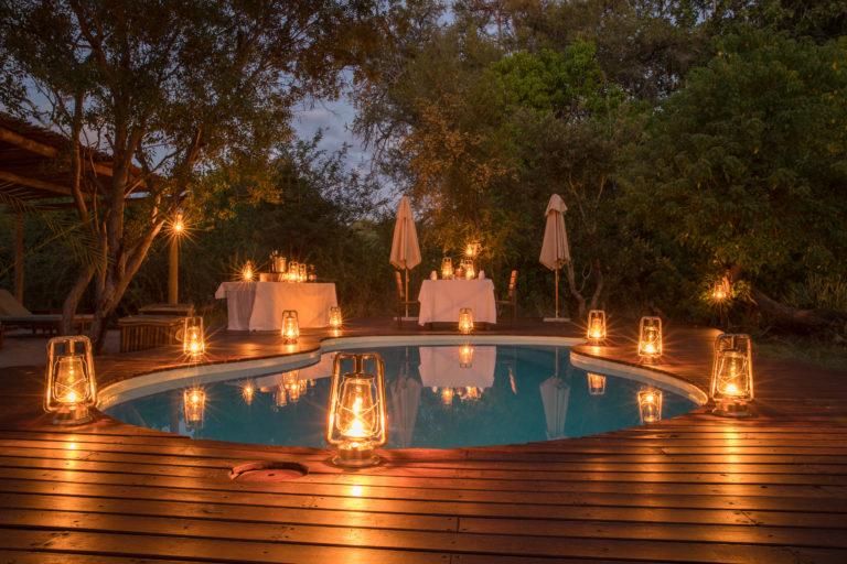 Private dinner around Kanana Camps swimming pool