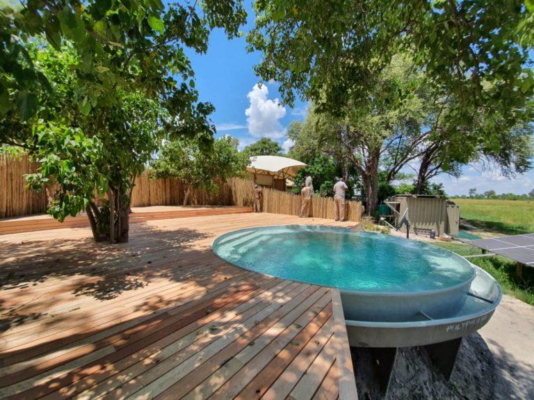 Khwai Leadwood private plunge pool on deck