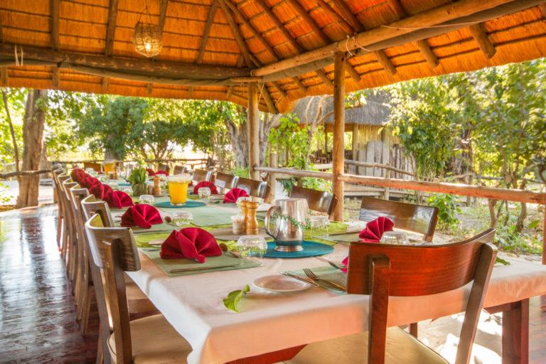 Kwando Lebala dining area The dining area at Lebala Camp meals are taken communally