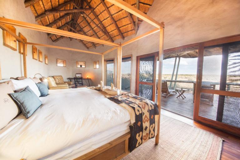 Guest rooms have wonderful views at Tau Pan Camp