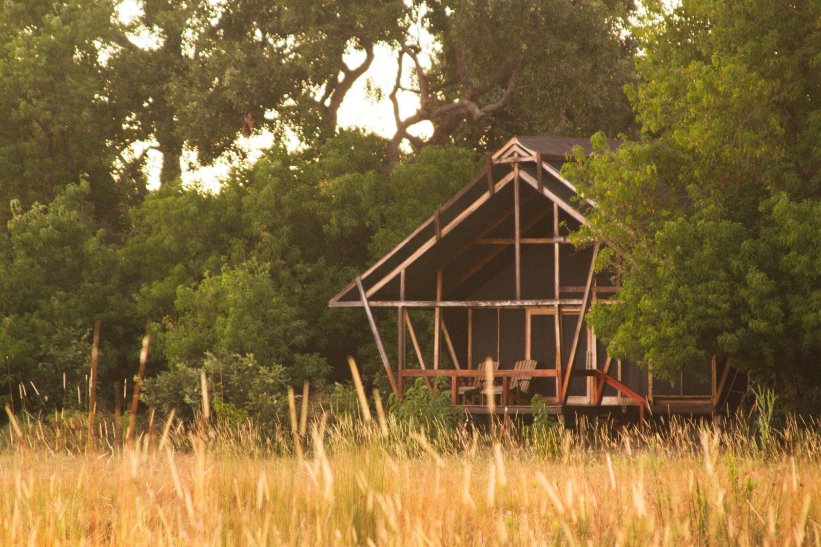 Guest tent exterior view at Lebala Camp