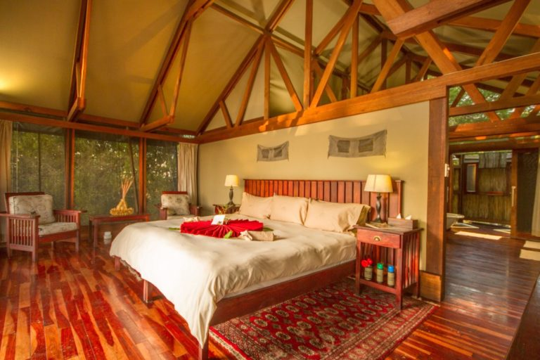 The guest rooms at Lebala are very spacious