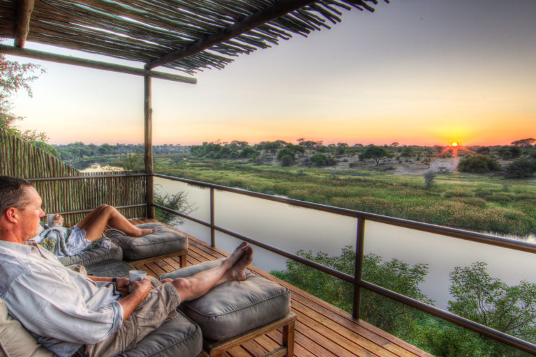 Magnificent views from the wooden deck at Leroo La Tau