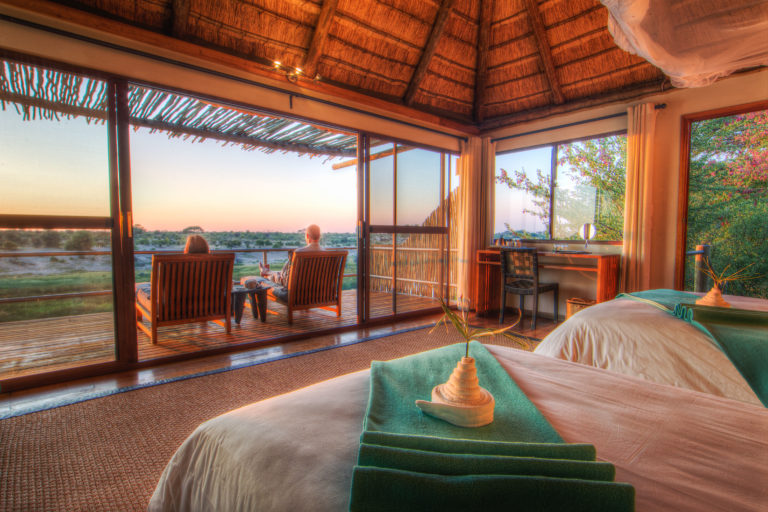 The guest suites at Leroo Le Tau have magnificent views