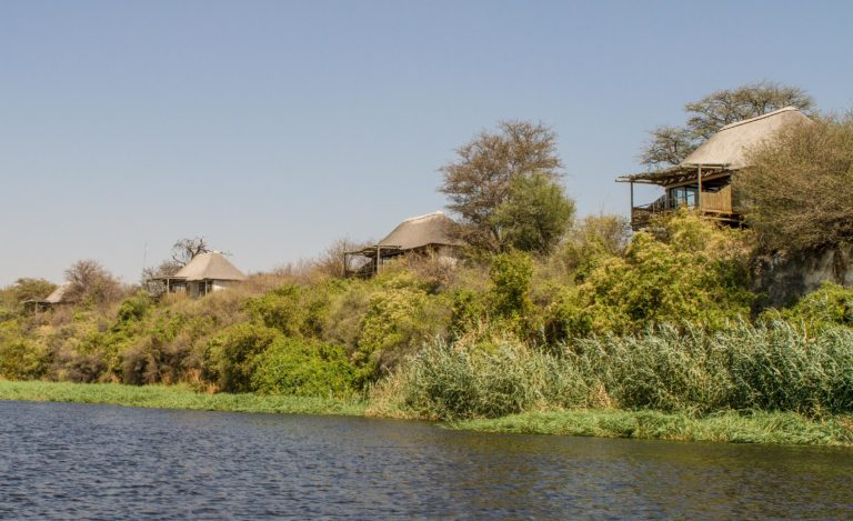 Guest rooms at Leroo La Tau as seen from the River