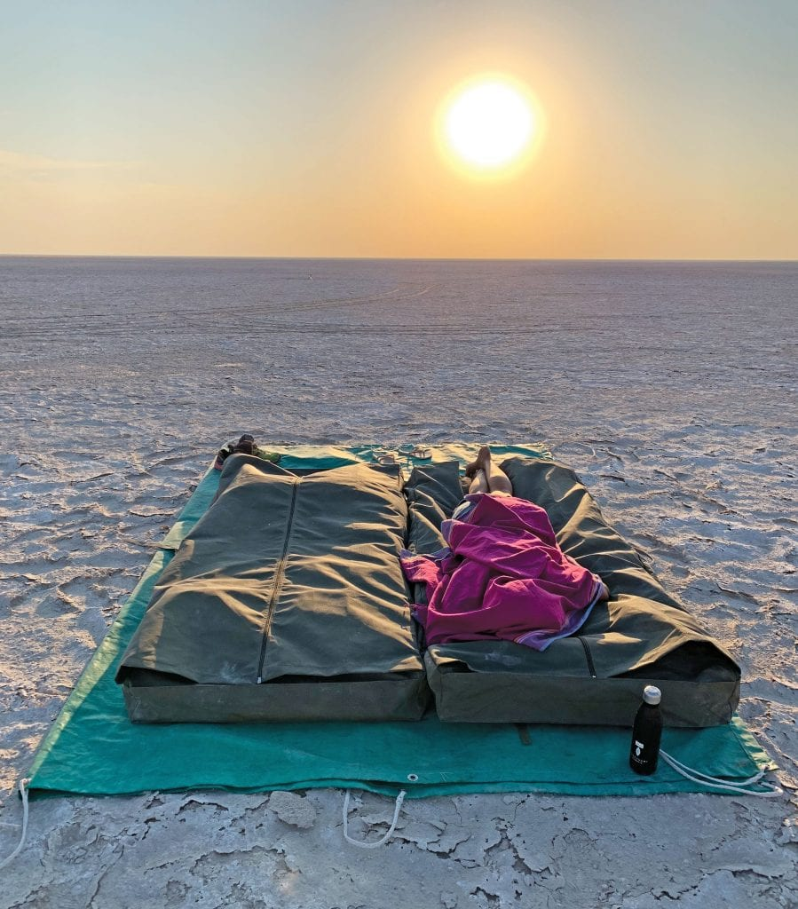 The comfortable and cosy bedrolls used on the Leroo la Tau sleep-out