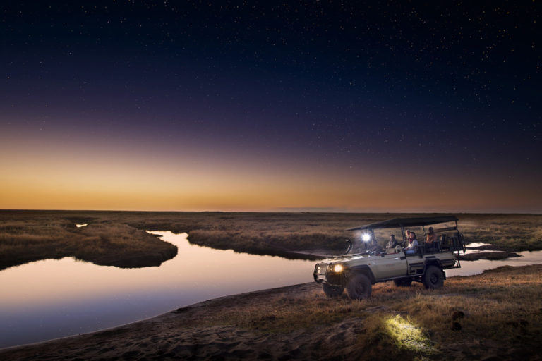 Evening game drive at Linyanti Expeditions