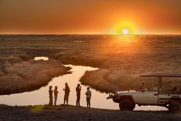 Linyanti Expeditions camp safari sunset