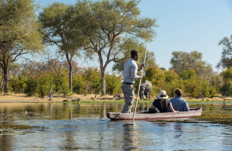 Guided mokoro excursions from Machaba Camp are a favourite guest activity