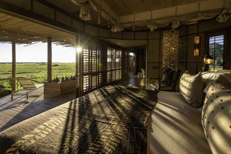 Mombo's guest suites are generous in size with fantastic floodplain views