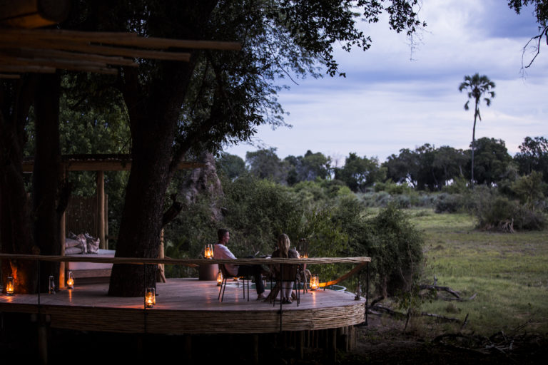 Private deck moments at Wilderness Safaris' stunning Mombo Cam