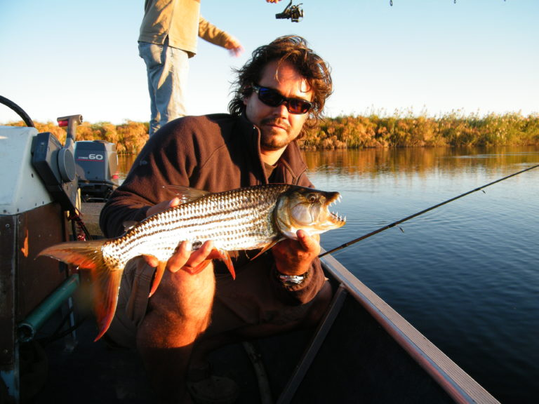 Nxamaseri Island Lodge is popular for its tiger fishing expeditions