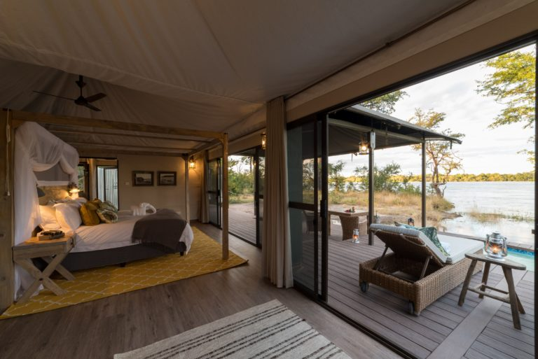 Full view of the spacious rooms and deck at Old Drift Lodge