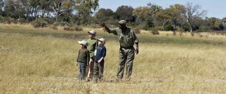 Children are fascinated by nature on guided bush walks at Seba